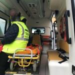 La consegna dell'ambulanza